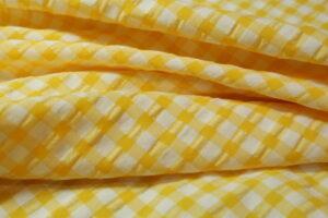 Cuadro seersucker amarillo-210